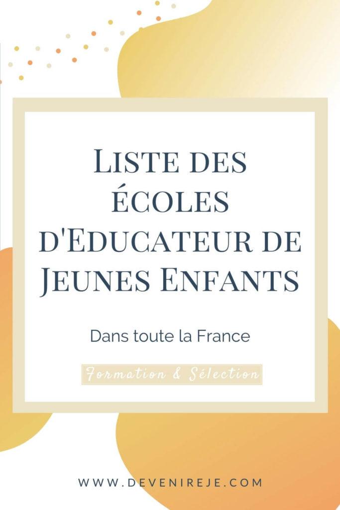 sauvegarde article liste des écoles d'EJE