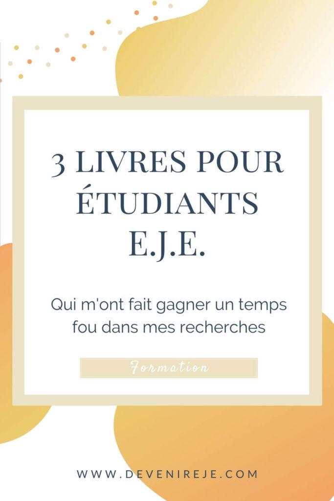 Sauvegarde article 3 livres pour étudiants EJE