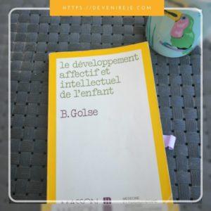 livres d'étudiante éducatrice golse développement enfant