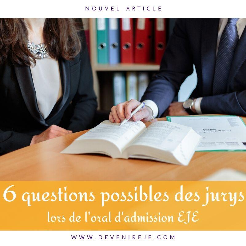 article 6 questions posées à l'oral du concours EJE