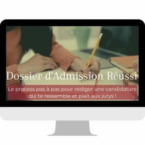Prépa en ligne EJE Dossier d'admission réussi